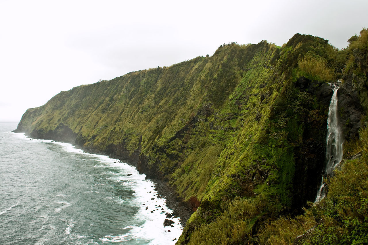 Azores Açores Beauty In Nature Coastline Landscape Nature Outdoors Scenics Sea Water Waterfall