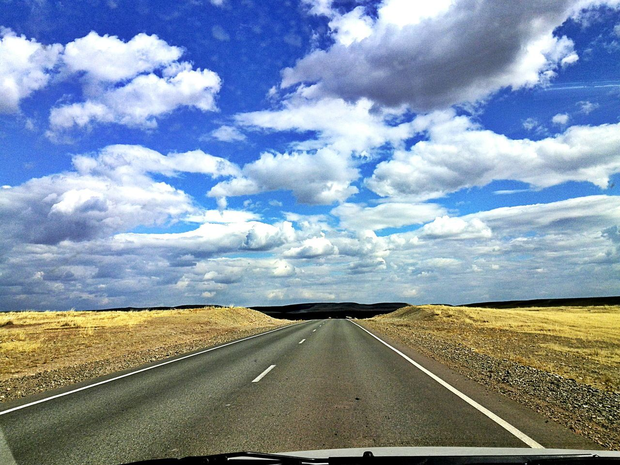 Sky Road Travel Nature Blue Дорога небо⛅️ облака👍 горизонт холмы степь