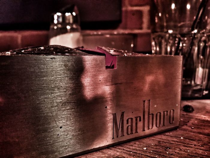A good night in the Bar..:-) Happy Time Perspective Ashtray  On The Table Barlife Structural Steel Marlboro In The Bar Wood Structure Ambiance Good Mood Leisure Activity Salt And Pepper Showing Imperfection