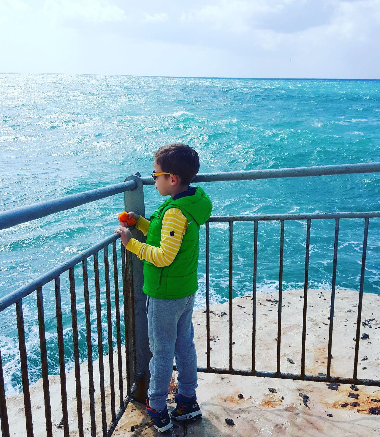 Childhood One Person Boys Children Only Outdoors People Nature Water Sky Day Israel Haifa Boy