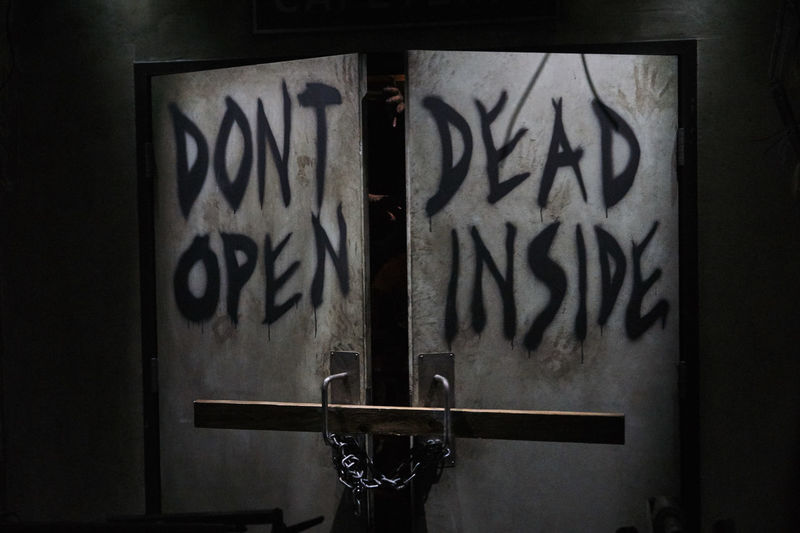 Creepy Door Do Not Enter Walking Dead Zombie Close-up Day Haunted Indoors  No People Scary
