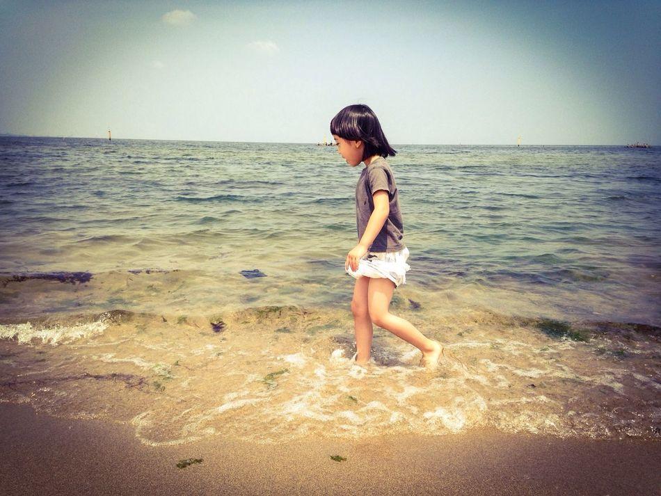 海、初体験♪