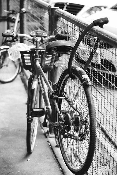 Architecture Bicycle Bicycle Rack Building Exterior Built Structure City Close-up Day Land Vehicle Metal Mode Of Transport No People Outdoors Railing Stationary Transportation
