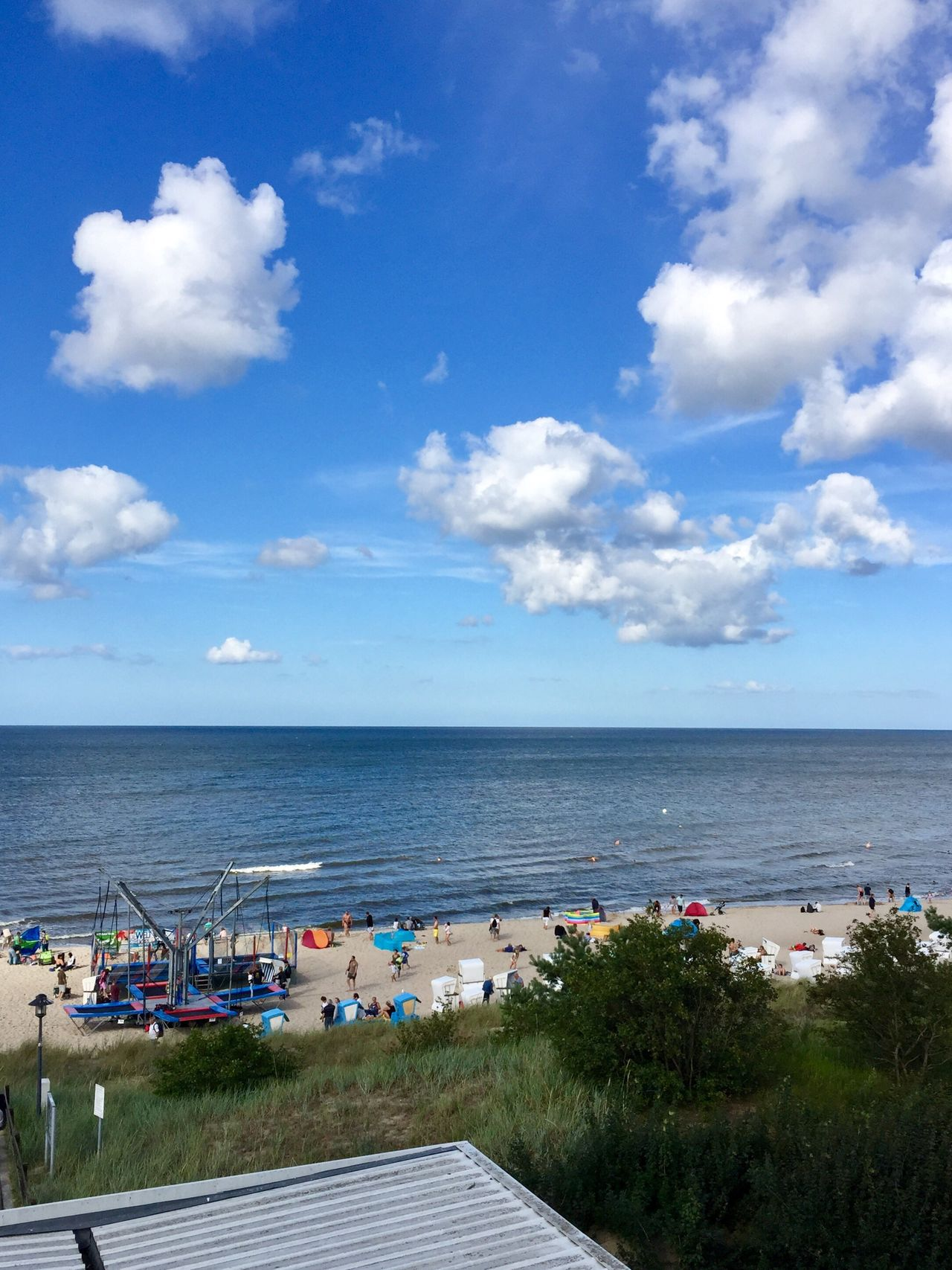 Sea Sky Cloud - Sky Horizon Over Water Water Beach Day Tranquility Nature Scenics Tranquil Scene Beauty In Nature Outdoors High Angle View Blue Tree No People Travel Destinations Architecture Building Exterior Usedom Usedom, Germany Balticsea Zinnowitz View