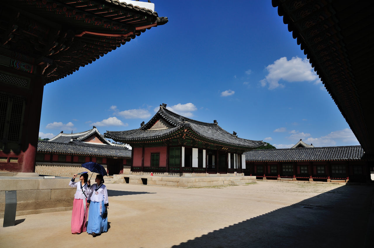 Frame Architecture Travel Destinations Religion Blue Travel Ancient Cultures History Tourism Sky Built Structure Beauty Landscape Outdoors People Ancient Civilization Scenics Seoul Korea Frame