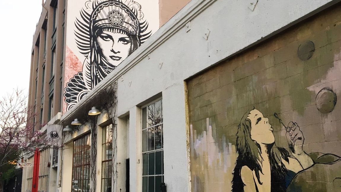 Street art Mural Art Arts Culture And Entertainment Artsdistrictla Built Structure Building Exterior Window Architecture Low Angle View Balcony Outdoors Tradition No People Day Sky Art Is Everywhere