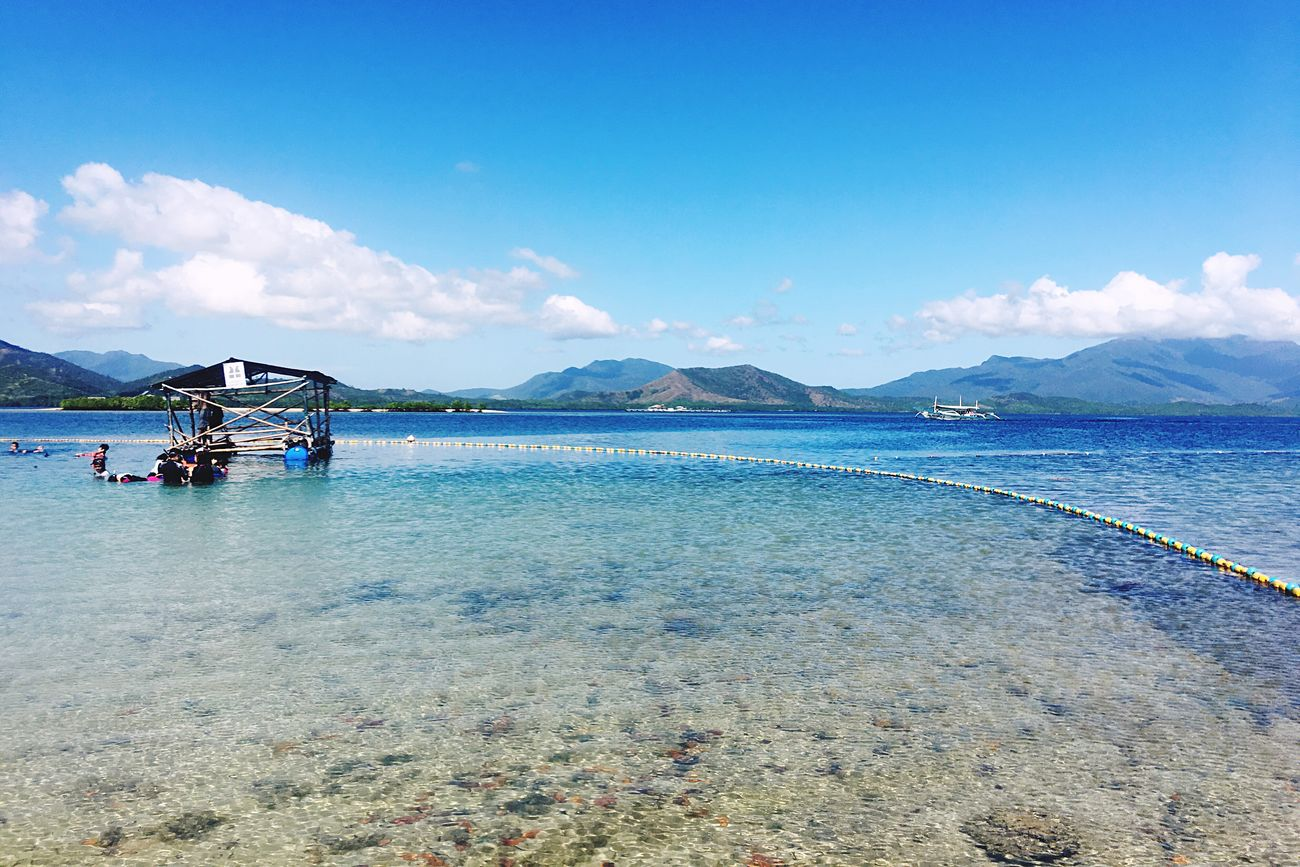 Water Blue Sea Beauty In Nature Scenics Sky Tranquil Scene Nature Tranquility Mountain Built Structure Nautical Vessel Idyllic Outdoors Architecture Cloud - Sky Day No People Beach EyeEm Best Shots Hello World Eyeem Philippines EyeEm Nature Lover Landscape EyeEm New Here