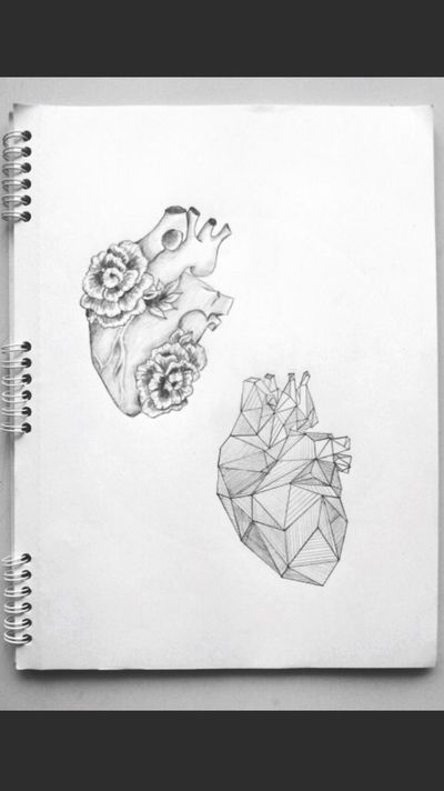 New Try No People Draw Heart Day Lifestyles Paper Close-up Two Views Pencil Art Me Real