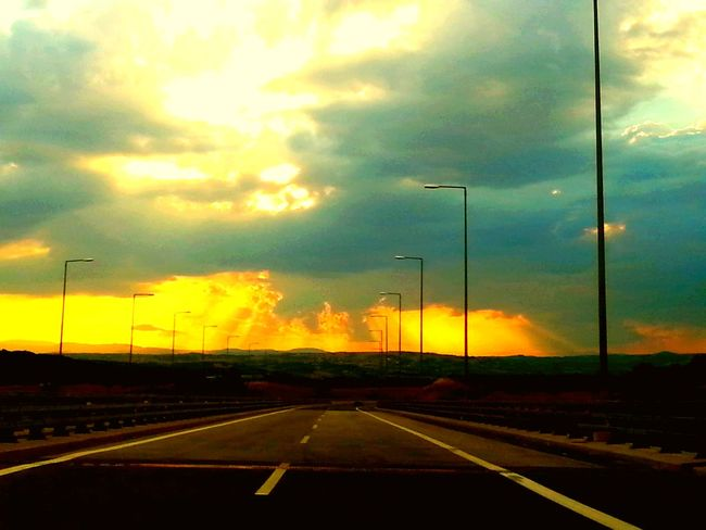 On The Way 43 Golden Moments Sun Sunrise Effect Sunrise_Collection Sunrise Moments On Road Showcase July