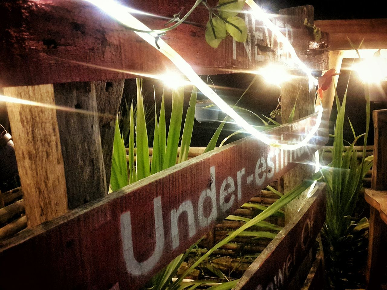 never underestimate Illuminated Night No People Indoors  Photographer
