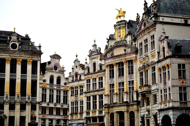 Architecture Belgium Brussels Bruxelles Building Exterior Built Structure City Cultures Day Gold Grand Place Grand-Place Horizontal Low Angle View Main Square No People Outdoors Sky Travel Destinations Window