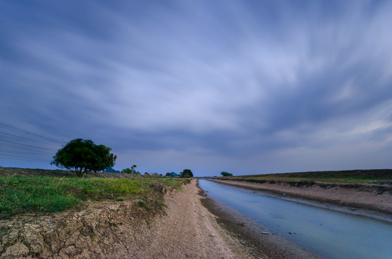 Agriculture Beach Beauty In Nature Cloudscape Day Landscape Nature No People Outdoors Road Rural Scene Sand Sand Dune Scenics Sky Storm Cloud The Way Forward Thunderstorm Tire Track Tree Water Winding Road