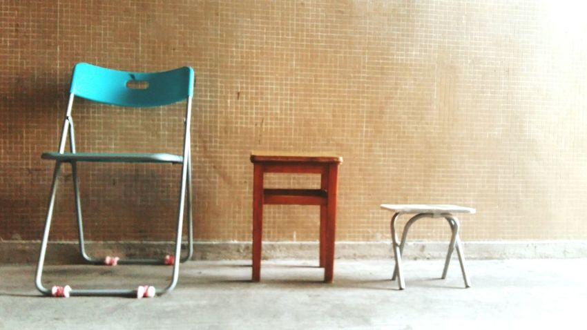 Chair Wall Sunny Sunshine Warm Tone Feeling Old Time Pattern Lines Big And Small - Hong Kong