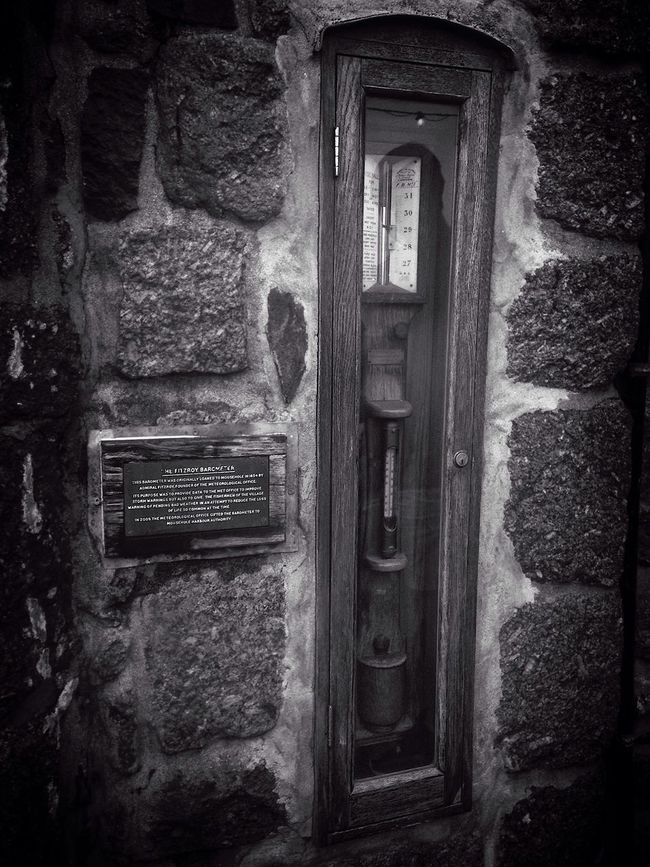 Monochrome Photography Architecture Built Structure Window Building Exterior Door House Damaged Day Outdoors Bad Condition Obsolete Arch Weathered Entryway History No People Mousehole, Cornwall Travel Thermometer