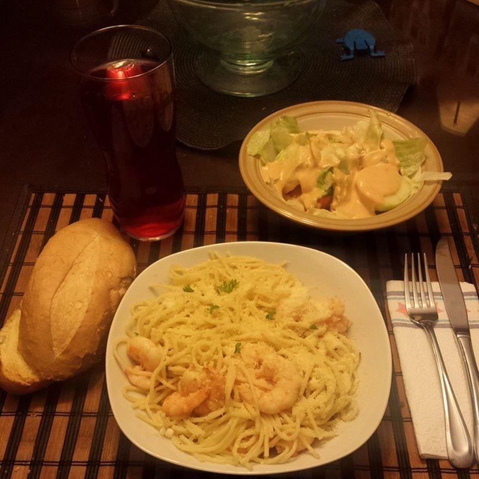 Bon Appétit!! Chefcampini Italiannight Shrimp Foodporn delicious homemade yesplease lovecookingonthursdays shrimpandpasta