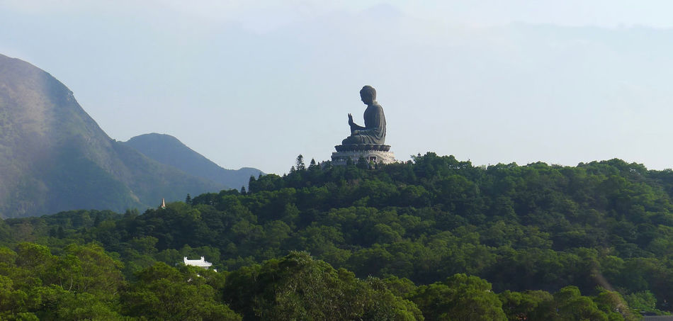 An awesome view from Ngong Ping Cable Car. Architecture Business Finance And Industry Cloud - Sky Cultures Day Landscape Mountain No People Outdoors Religion Sculpture Sky Statue Tian Tan Buddha (Giant Buddha) 天壇大佛 Tourism Travel Travel Destinations Tree Vacations
