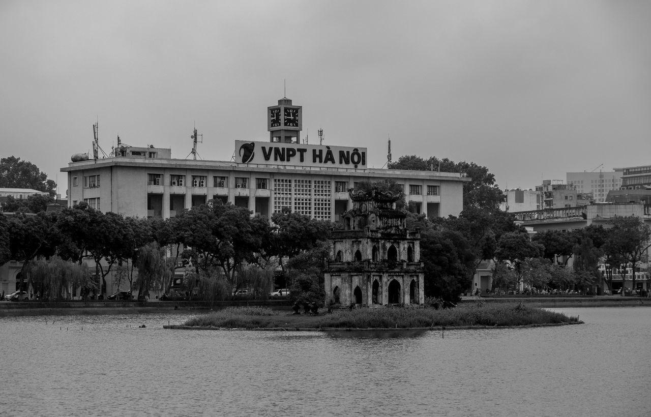 VNPT Han Oi, Hoan Kiem, Hanoi, Vietnam Architecture FUJIFILM X-T2 Blackandwhite Monochrome Photography Black And White Architecture Hoàn Kiếm Vietnam Urban City Street