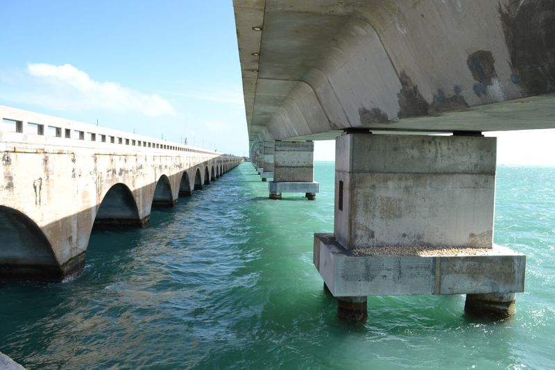 Architecture Bridge Built Structure Connection Engineering Florida Keyes Geometric Shapes Green Blue Water High Angle View Water Pattern Pieces The Architect - 2016 EyeEm Awards Beautifully Organized The Secret Spaces Art Is Everywhere Sommergefühle EyeEm Selects Breathing Space Lost In The Landscape