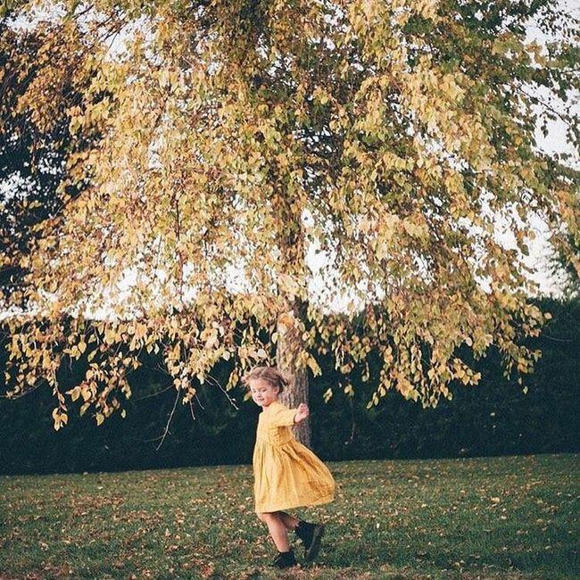 a yellow dress for yellow leaves Utah UtahisRad Milapaige Nature Kids