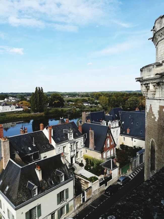 Architecture High Angle View Outdoors No People Day Cityscape Water Building Exterior Sky Château Royal D'amboise Château Amboise Loire Valley, France River Town Scenics History Castle Travel Destinations
