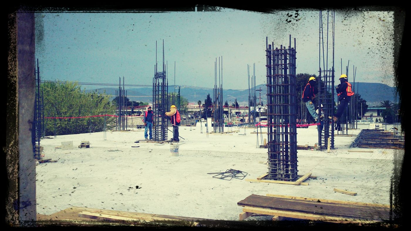 bulding afternoon working hard new place
