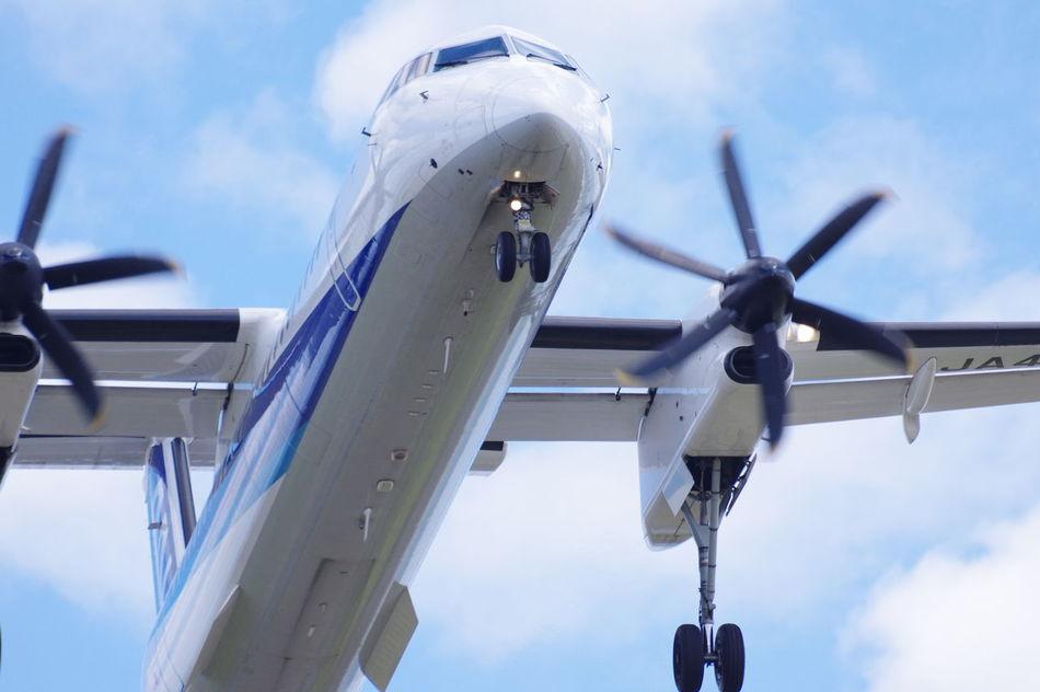 2017-4-23 Sendai airport, Miyagi, Japan. Air Vehicle Airplane Boeing Bombardier Cloud - Sky Day Embraer Flying No People Outdoors Sendai Airport Sky 仙台空港 飛行機