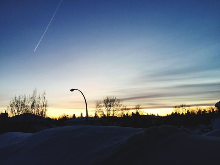 Nature Beauty In Nature Tranquil Scene Tranquility Winter Sunset Cold Temperature Blue Sky Snow