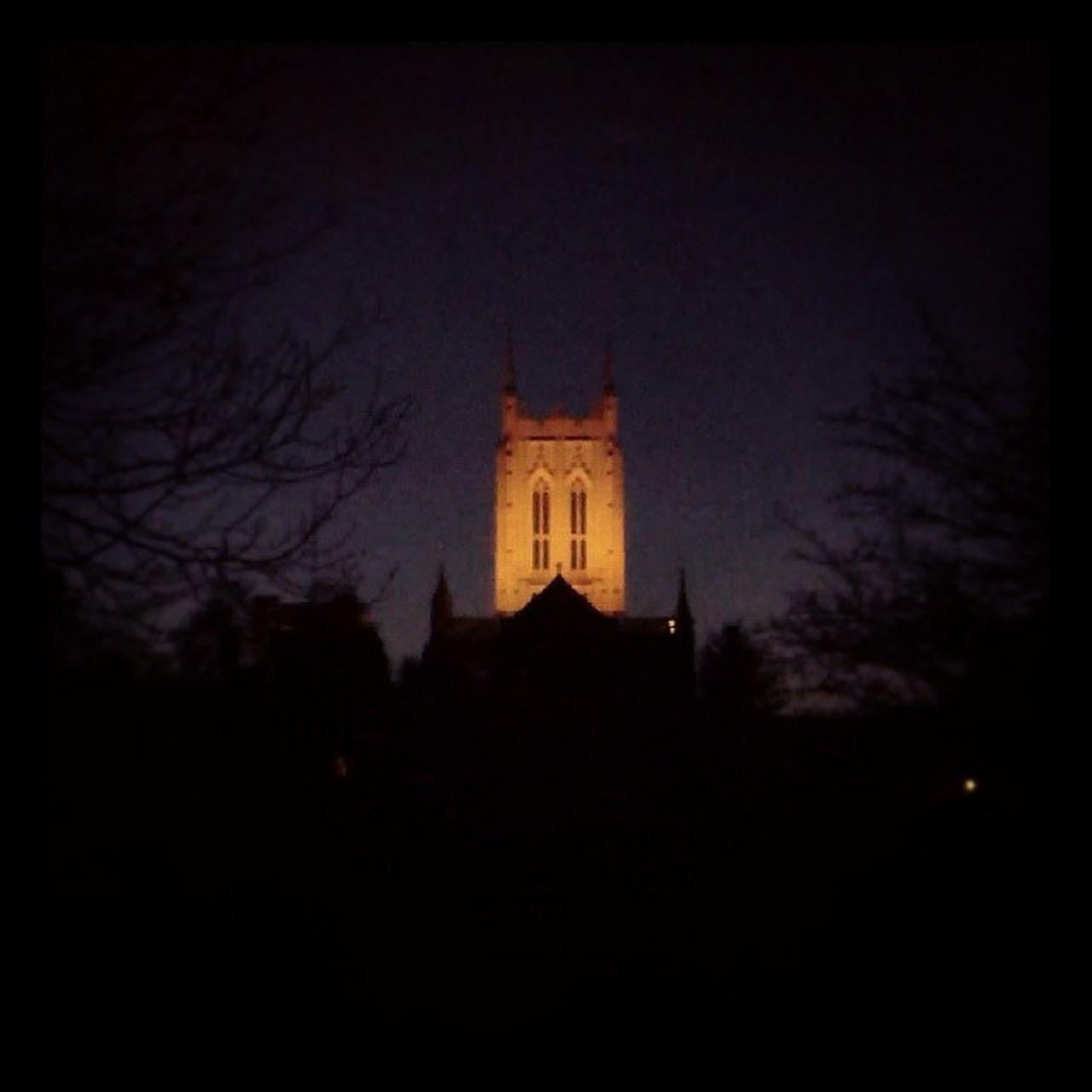 Bury Abbeygardens Cathedral Darkness night light