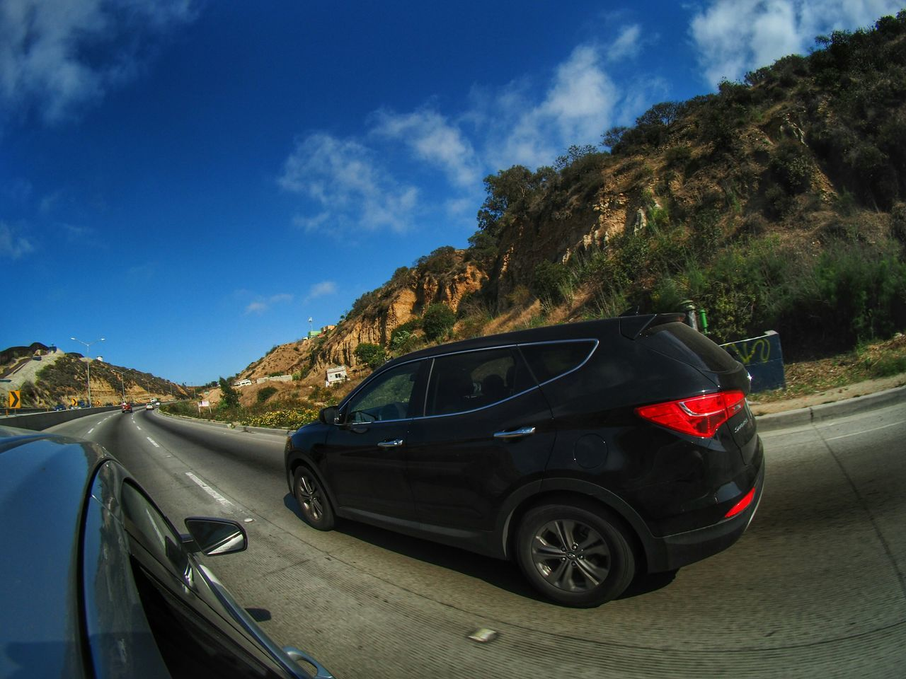 ✌. Cars Traveling Taking Photos Inthecar Ontheroad Urban Landscape Fisheye Road