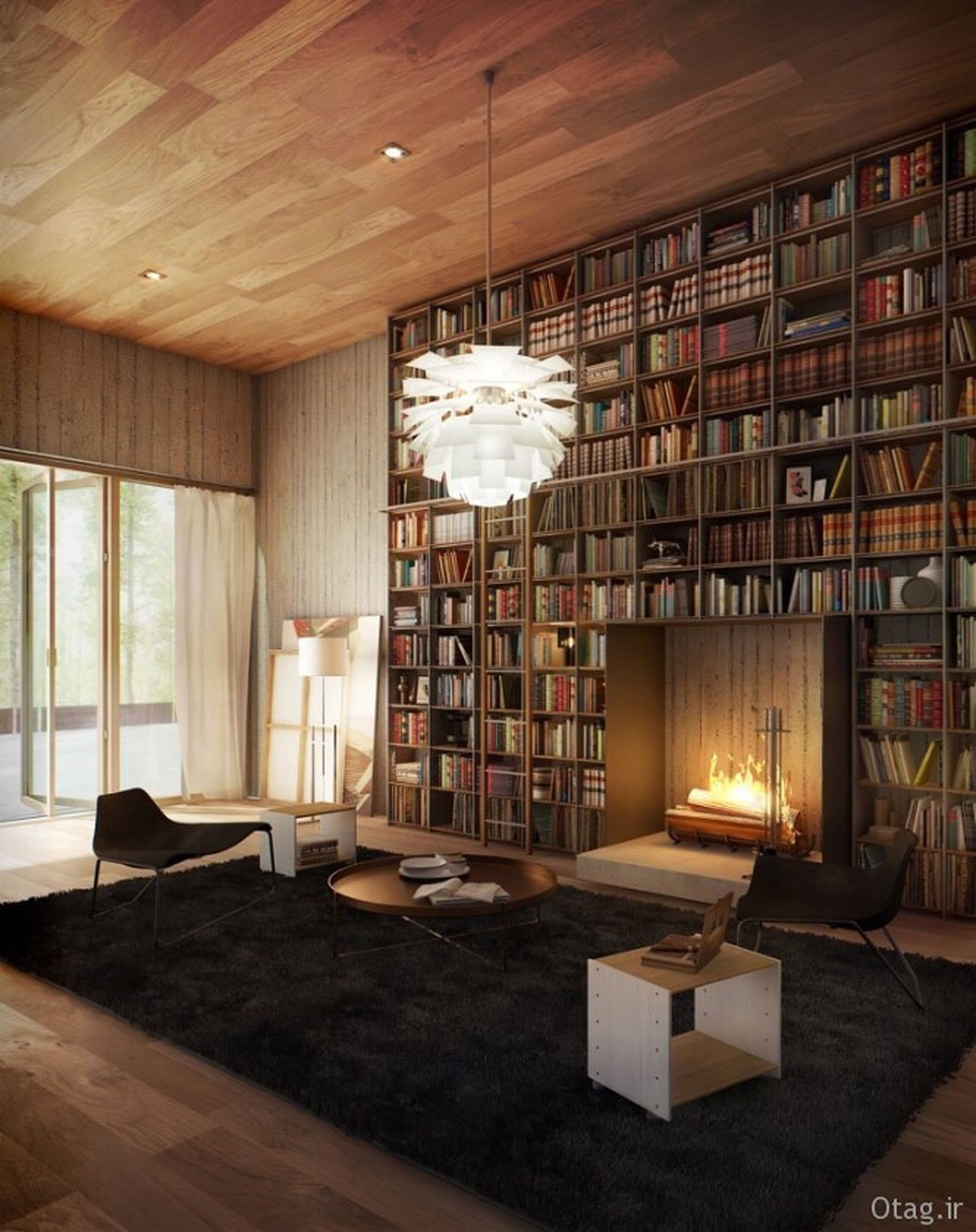 indoors, library, bookshelf, shelf, chair, home interior, no people, architecture, home showcase interior, day