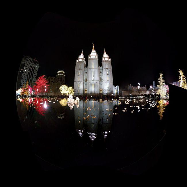 Temple Square Temple Lds Salt Lake City Mormon Reflection Christmas Salt Lake Temple