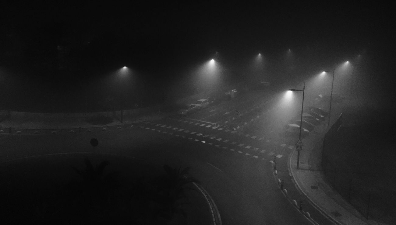 Fog Blackandwhite Night Lights