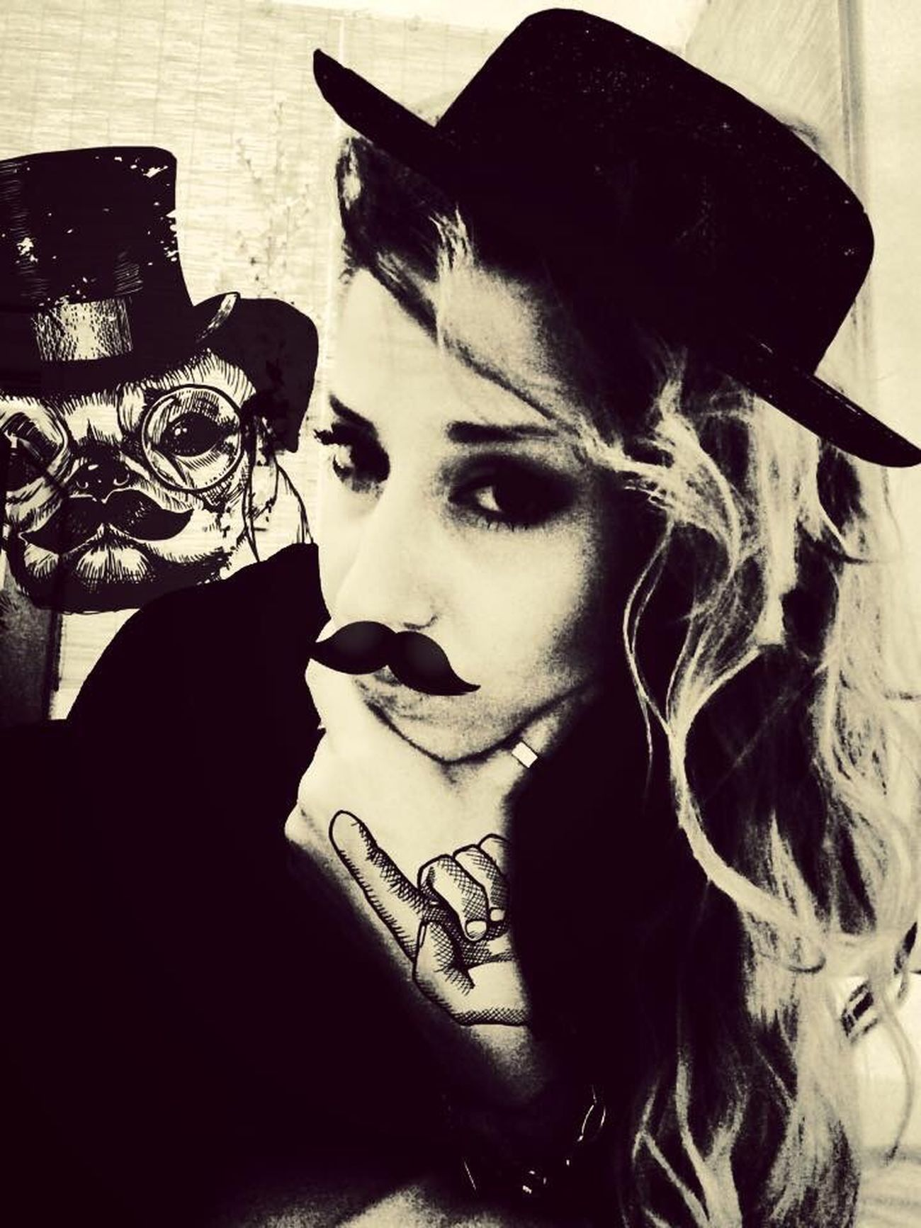 Find The Difference Blackandwhite Retro Chaplin