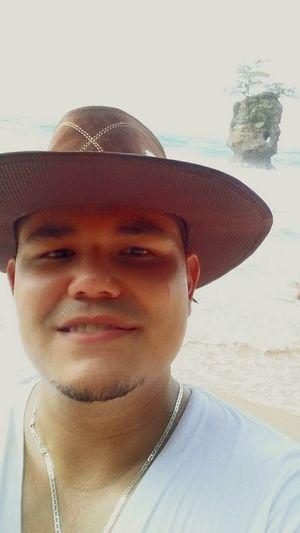 Only Men Portrait Adult Beach Lifestyles Summer Costarica Pura Vida ✌ Costa Rica Manzanillo Beach Caribe Caribbean Nature Puerto Limón Island In The Sun Caribbean Sea Cowboy Hat Cowboy