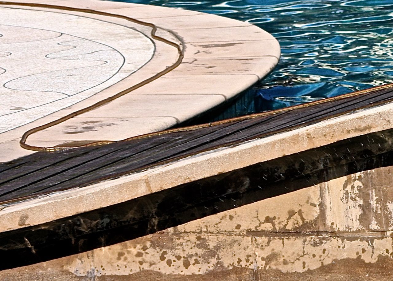 water, high angle view, no people, swimming pool, day, outdoors, nature, close-up