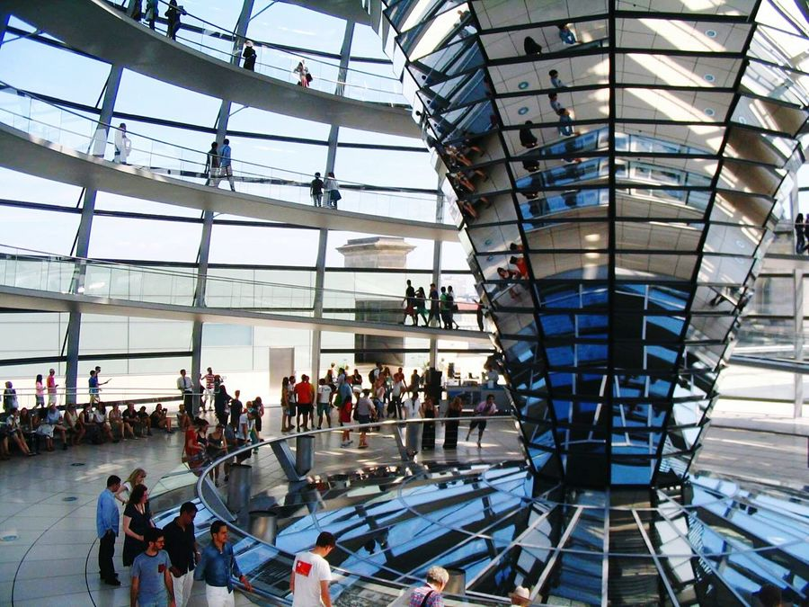 Berlin Reichstagskuppel ReichstagBuilding Reichstagsgebäude Bundestag Tourism Architecture Travel Destinations Business Finance And Industry Arts Culture And Entertainment Built Structure Large Group Of People Sky Day Outdoors People Ice Rink Adult