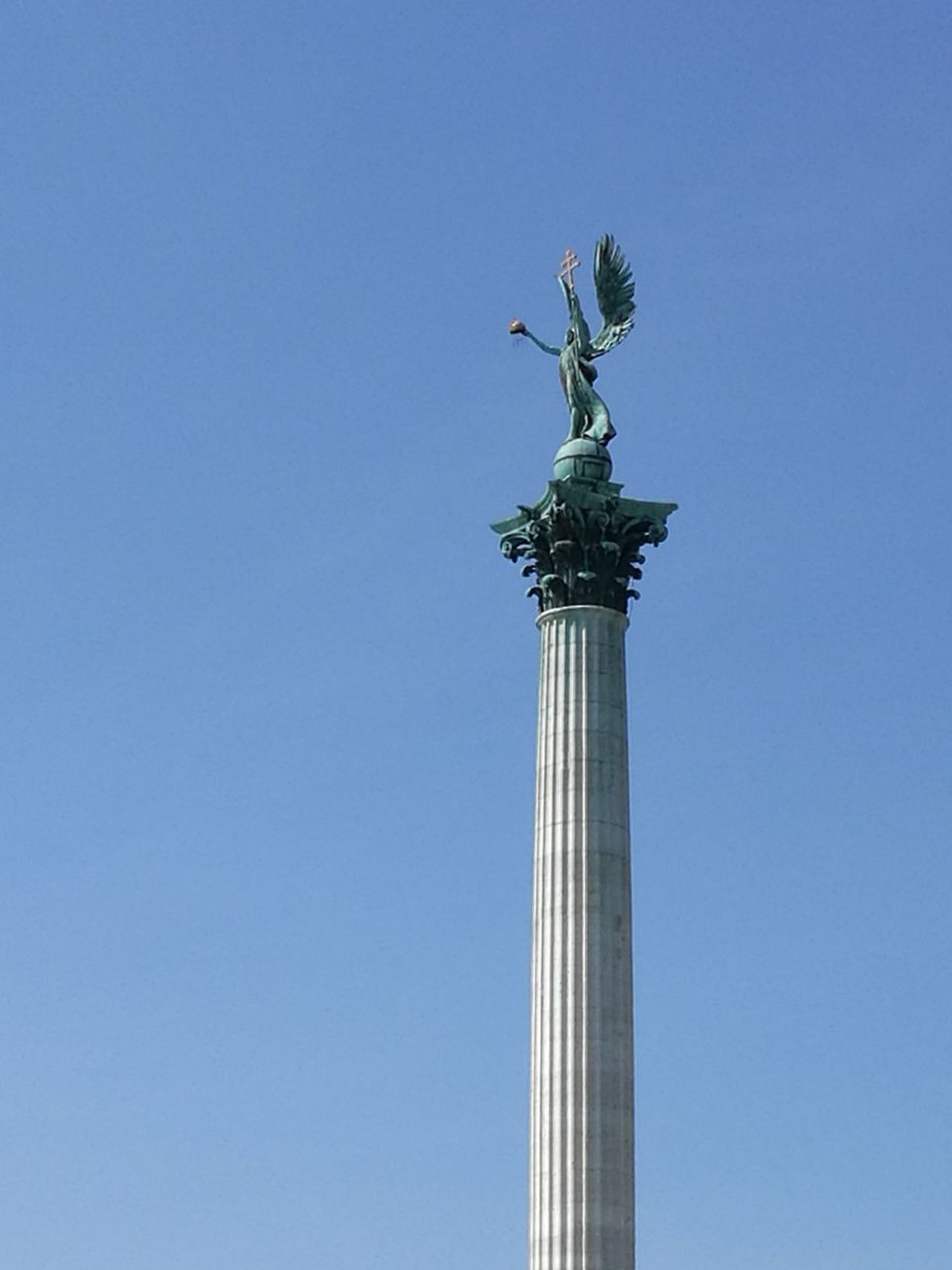 Gabriel, the Archangel Statue Sculpture Architectural Column Sky City No People Angel Blue Clear Sky Archangel Gabriel