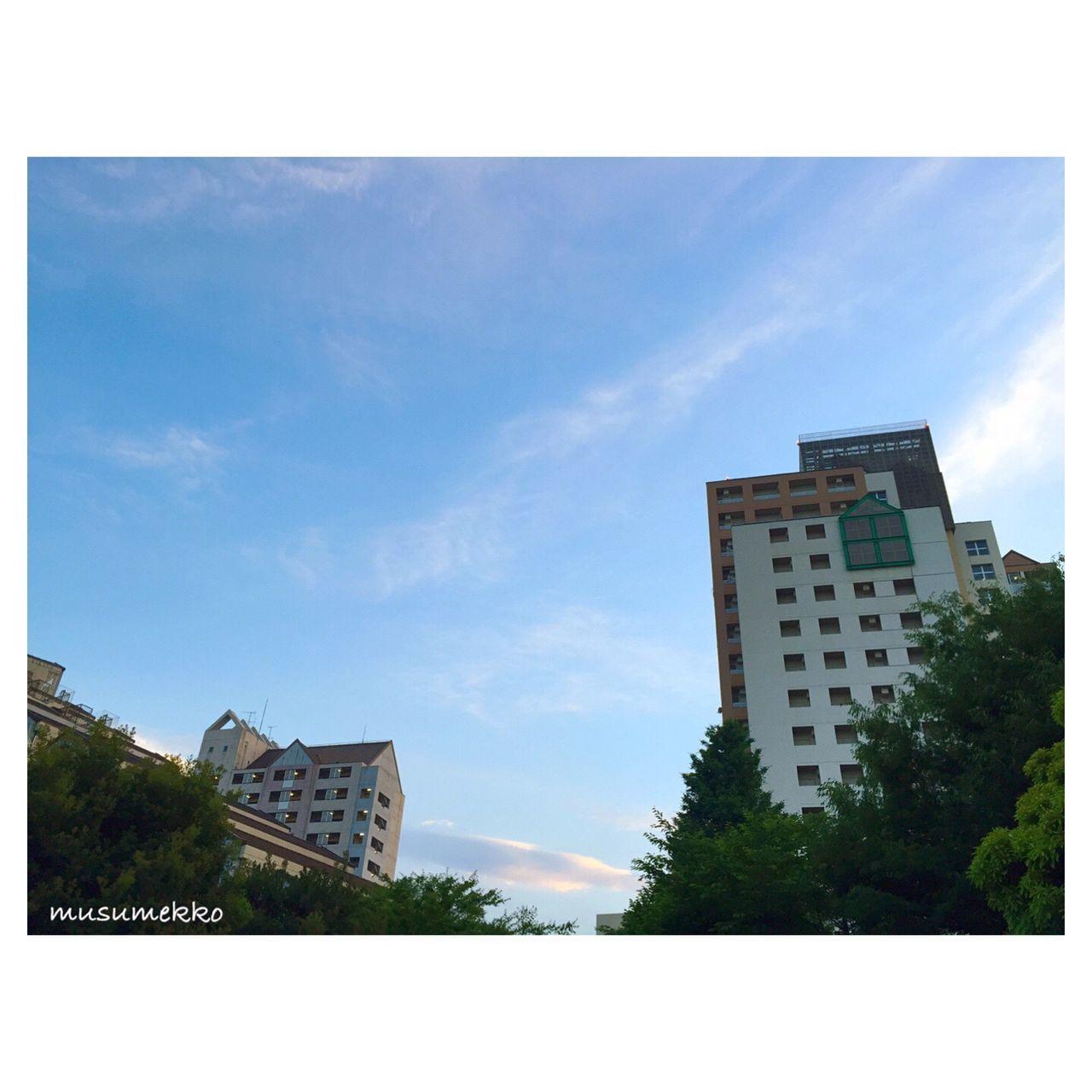 いつかの夕空。 Relaxing Japan Photography Nature_collection Landscape_collection EyeEmNatureLover EyeEm Best Shots - Nature IPhoneography Beautiful Nature Architectural Detail Sky And Clouds Sky_collection 空 雲 空と雲 夕空 建物