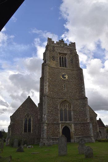 Architecture Archival Building Exterior Cloud - Sky Day Earls Colne Essex Grass No People Outdoors Pilgrimage Place Of Worship Religion Sky Spirituality Tower Vertical
