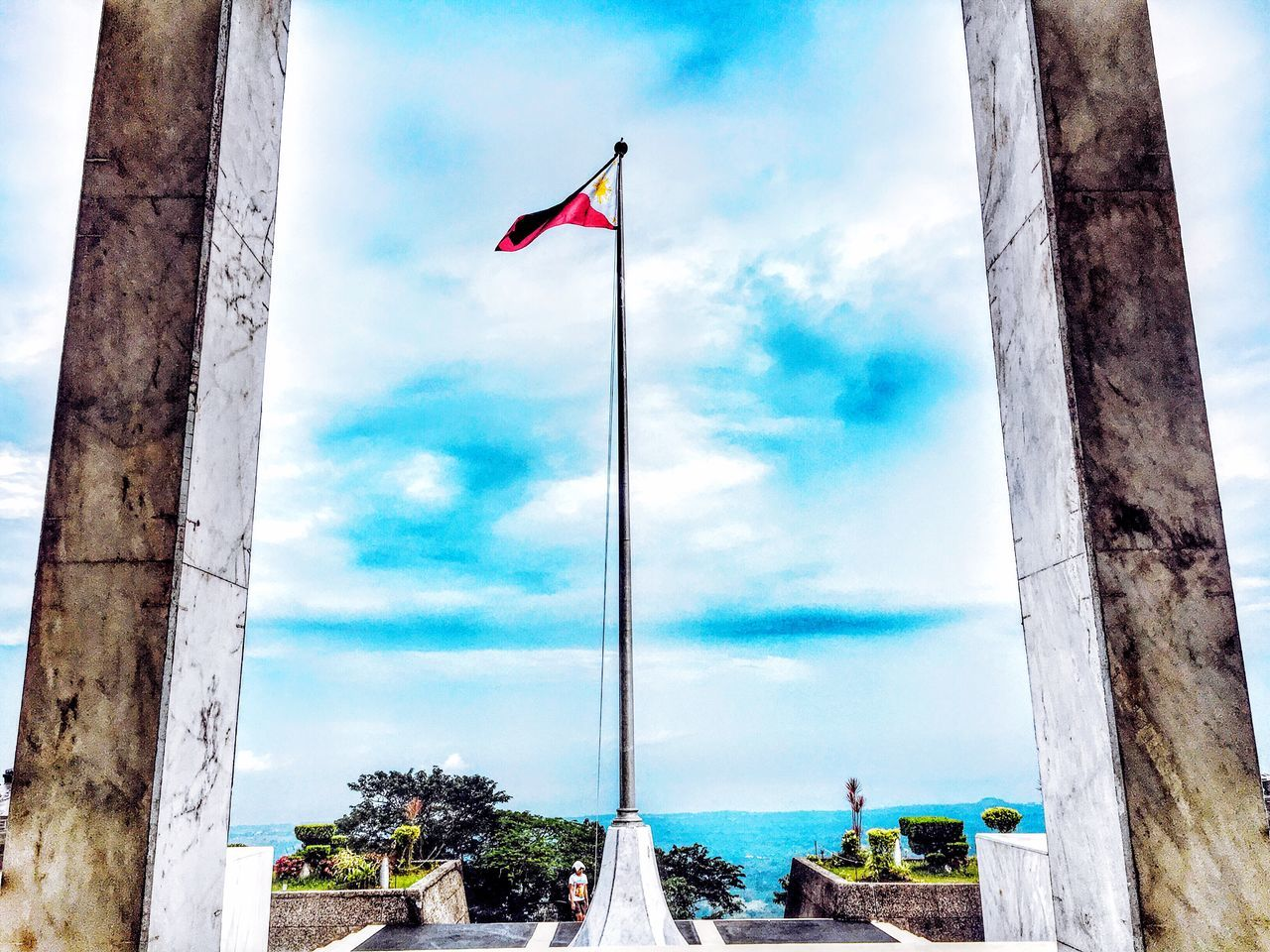 Flag of Philippines Flag Patriotism Sky Day No People Low Angle View Outdoors Flag Pole Architecture Eyeem Philippines TravelPhilippines