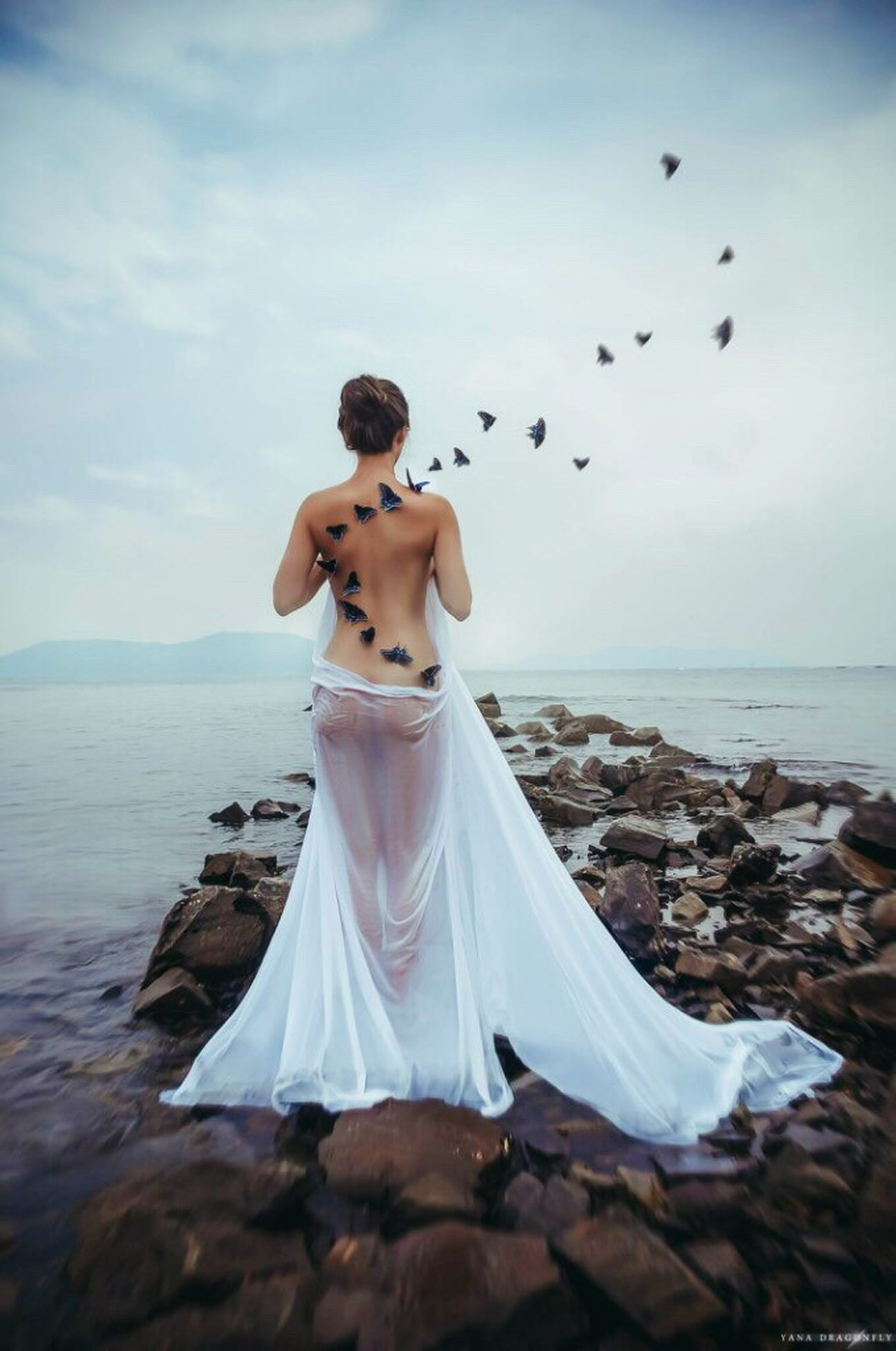 Buterfly Dreams Sea Nude_model Art Artphotography Artistic Photo Fantastic