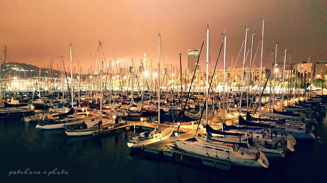 Nautical Vessel Transportation Boat Water Sea Sailboat Sky Tranquil Scene Harbor Calm Sunset Barcelonaharbor Barcelona España Barcelona, Spain Capture The Moment Capturing Freedom Capturing Life Captain Photo Photography Lovephotography