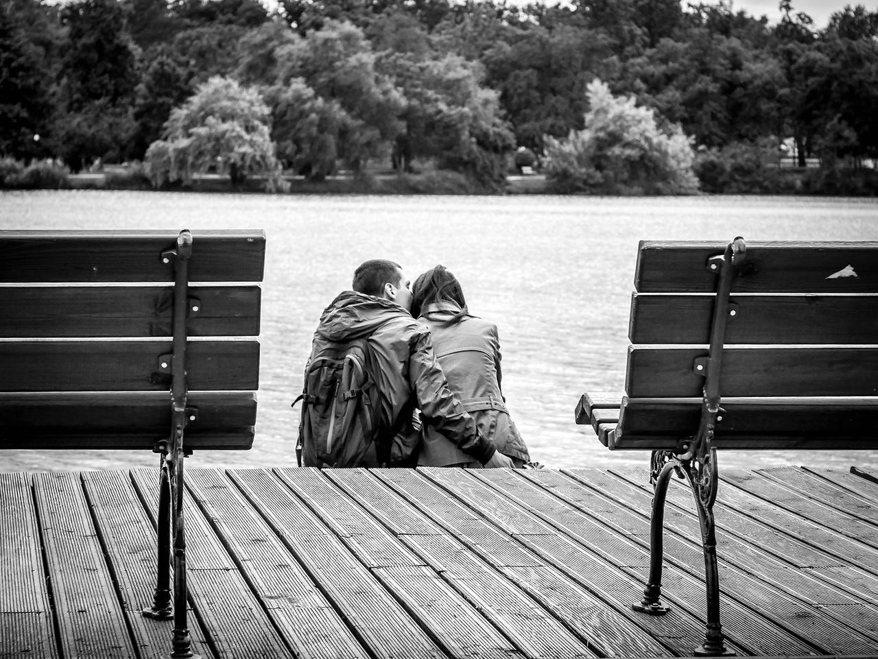 two people, rear view, real people, togetherness, sitting, leisure activity, tree, day, couple - relationship, women, love, relaxation, focus on foreground, nature, men, lifestyles, outdoors, bonding, adult, friendship, beauty in nature, young adult, sky, people, adults only