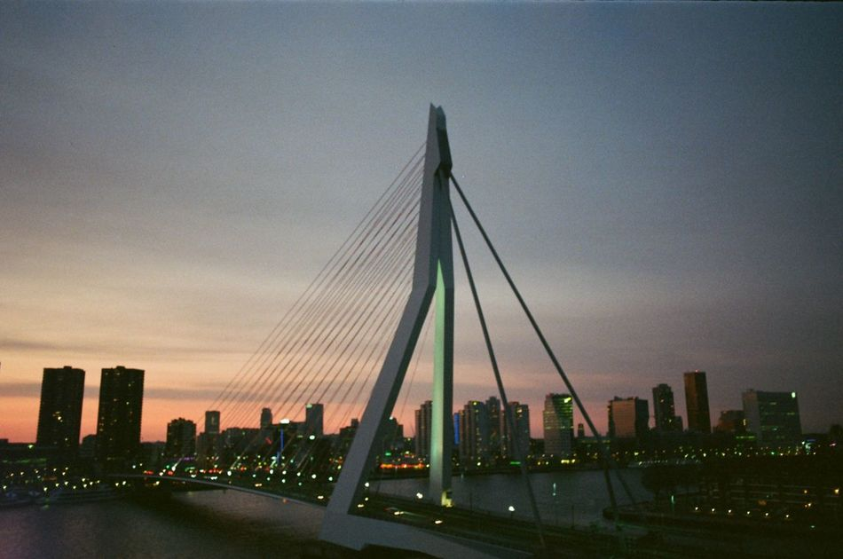 Architecture Building Story City Cityscape Koolhaas River Rotterdam Urban Skyline