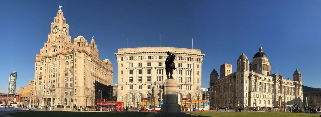 Liver Building The Three Graces Liverpool, England The Beetles My City My City Is Beautiful