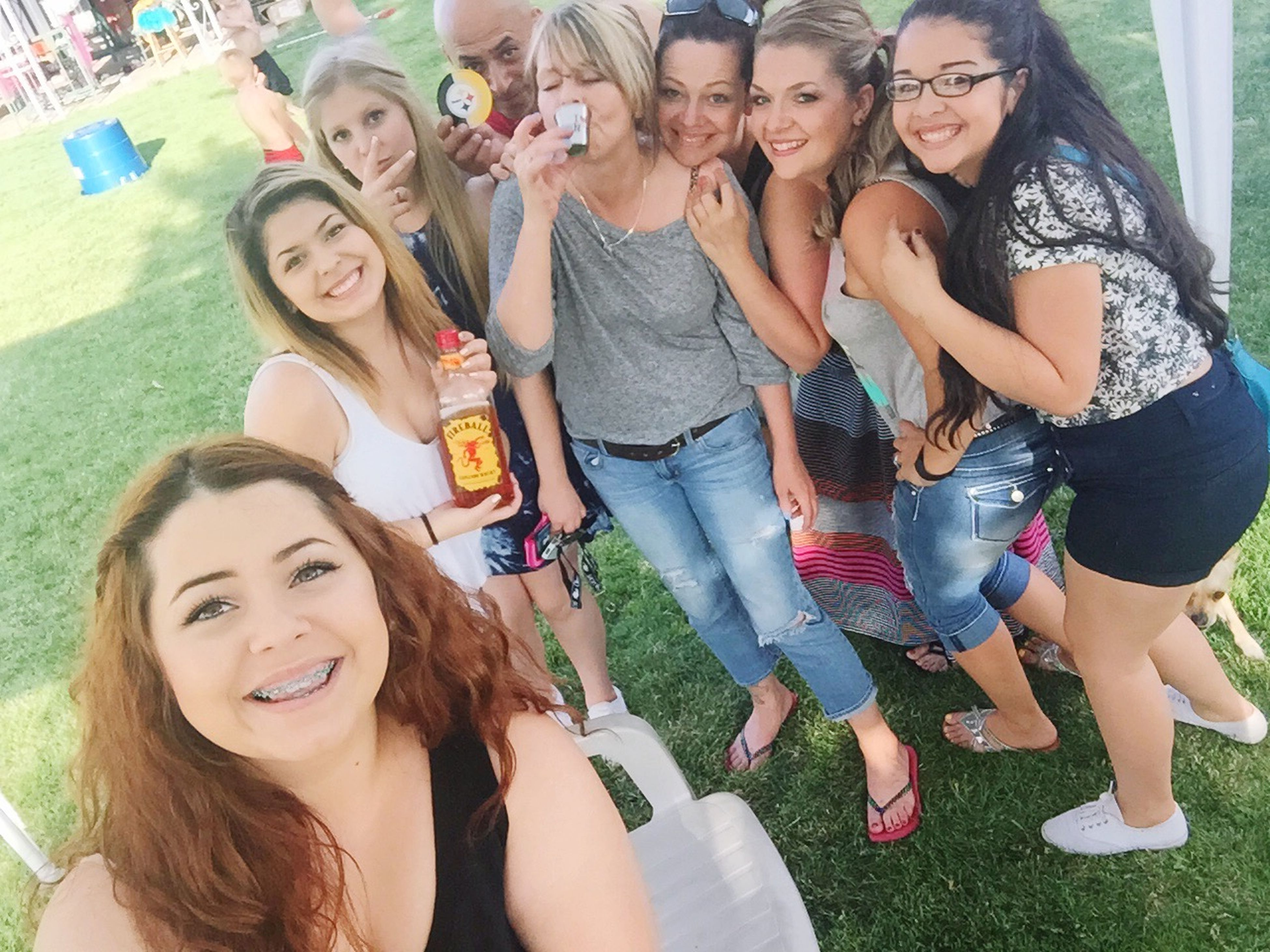 lifestyles, young adult, leisure activity, togetherness, young women, person, looking at camera, happiness, smiling, portrait, bonding, front view, casual clothing, friendship, love, standing, fun, toothy smile