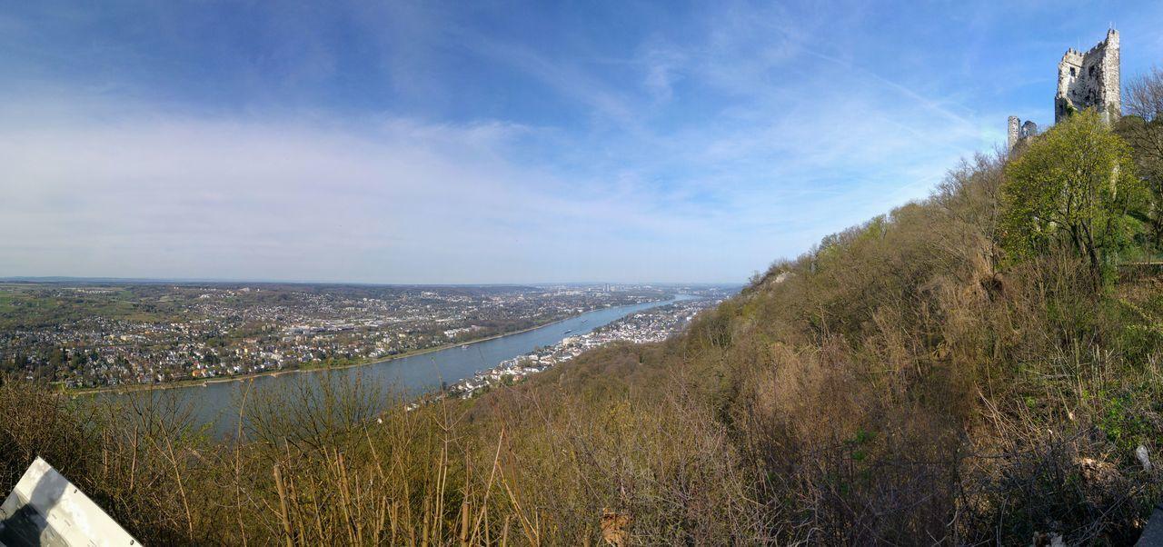 Aussicht Bonn Drachenfels Frühling No People Panorama Rhein Rheintal  Ruine