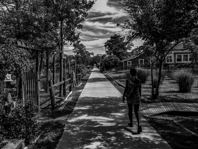 Architecture Blackandwhite Photography Built Structure Childhood Day Fujifilm_xseries Full Length One Person Outdoors Path People Photographyisthemuse Real People Sky Summer The Way Forward Tree Walking Alone... Walking Around