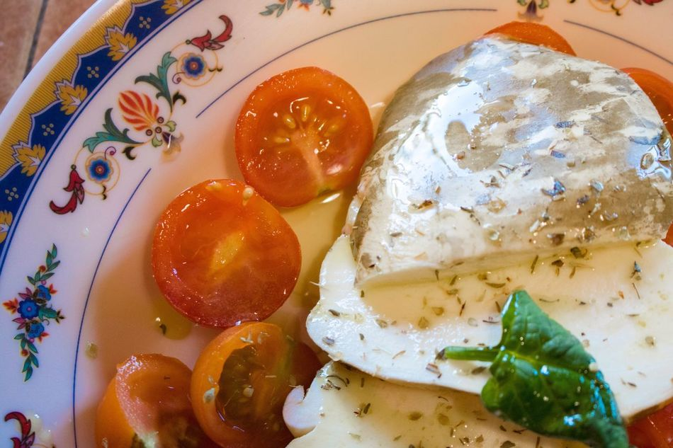 Affumicata Food Egg Plate Food And Drink Freshness Ready-to-eat Tomato Healthy Eating Provola Provolone Cheese Freshness Cheese Factory Table Egg Yolk High Angle View Serving Size Indoors  Breakfast Fried Egg Close-up No People Day Poached