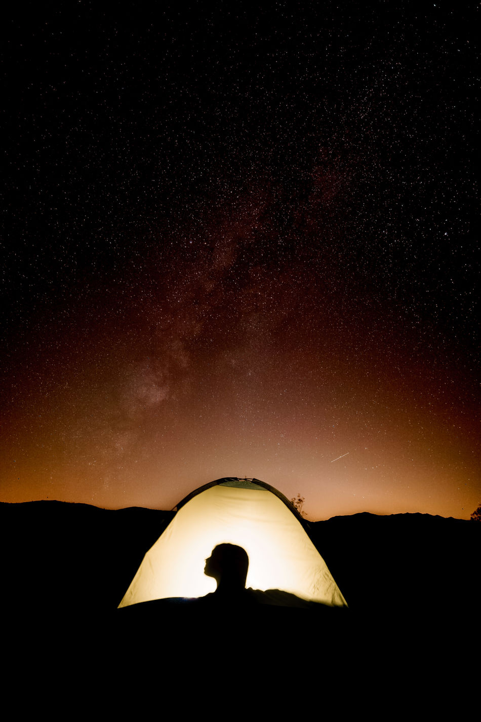 Astronomy Aurora Polaris Beauty In Nature Camping Constellation Galaxy Midnight Milky Way Nature Night Outdoors Scenics Silhouette Silhouette Sky Space Star - Space Sunset Tent